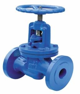 1.10-Cast iron globe valve, flanged