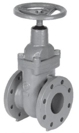 6.10-Cast iron gate valve, flat body
